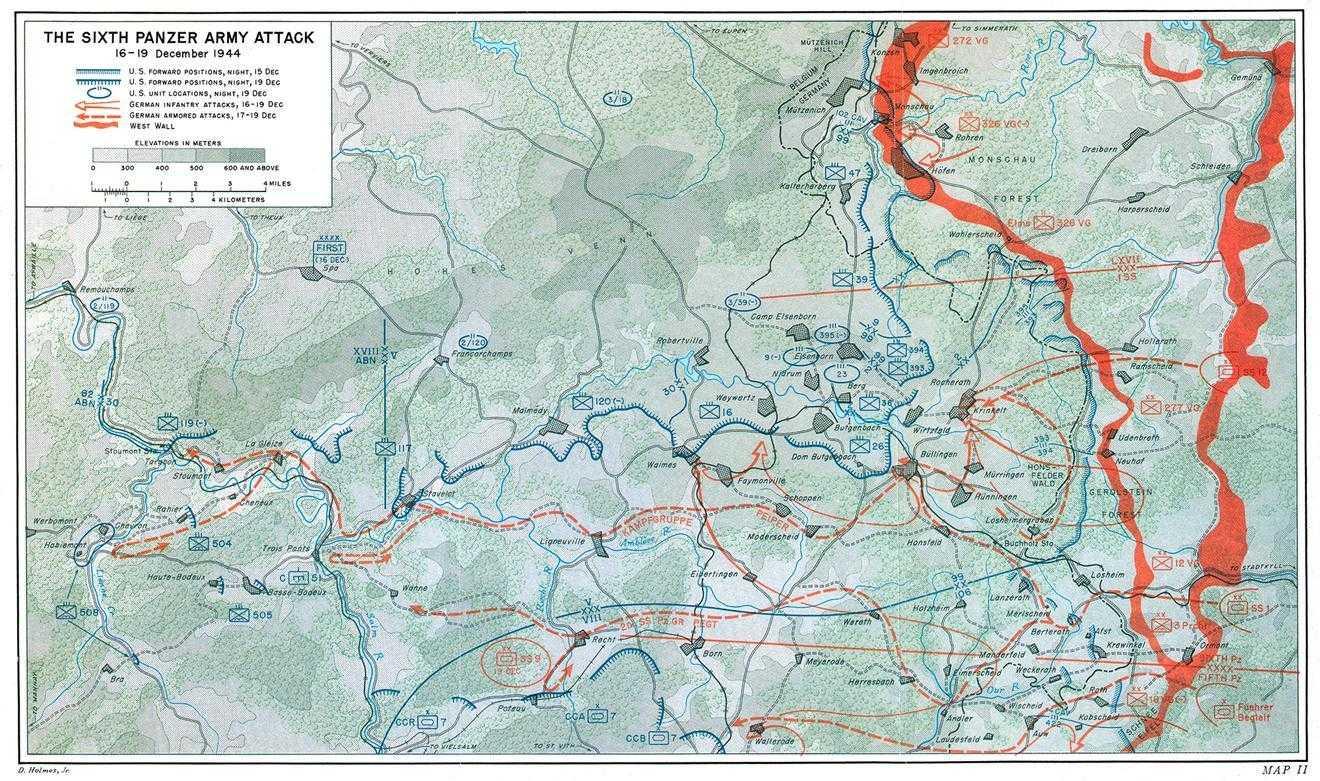 US Army ETO Ardennes Maps - Us army travel map