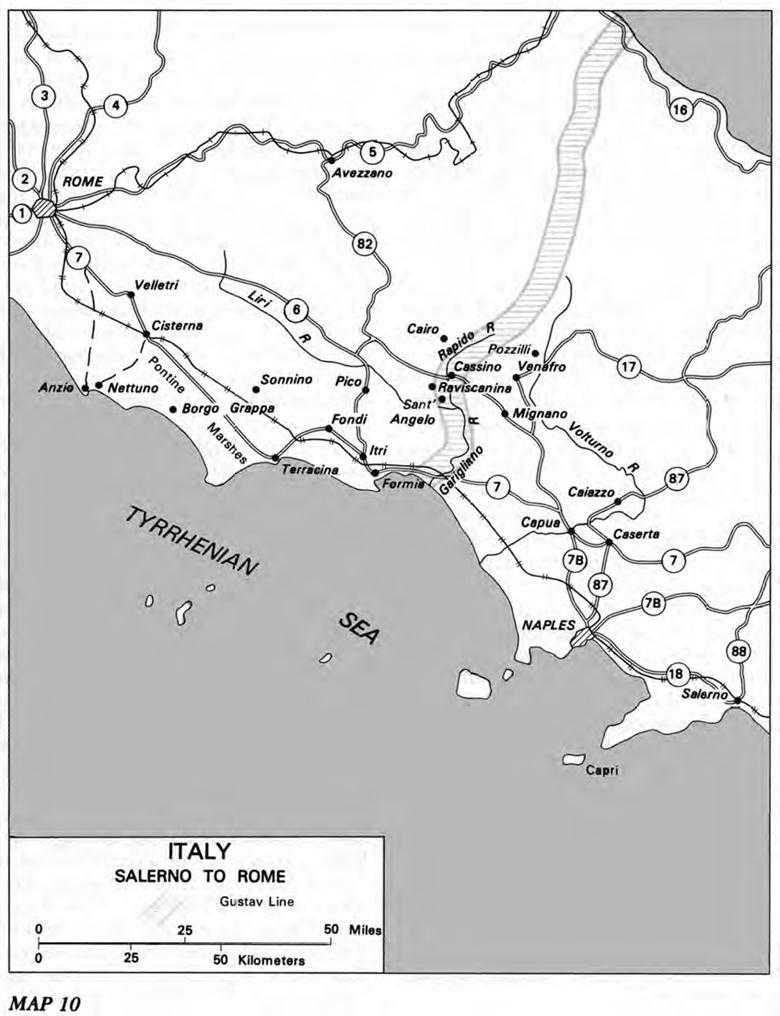 us army ts engineers 3 war with germany chapter 10 the advance to 28th Infantry Division United States map 10 italy salerno to rome
